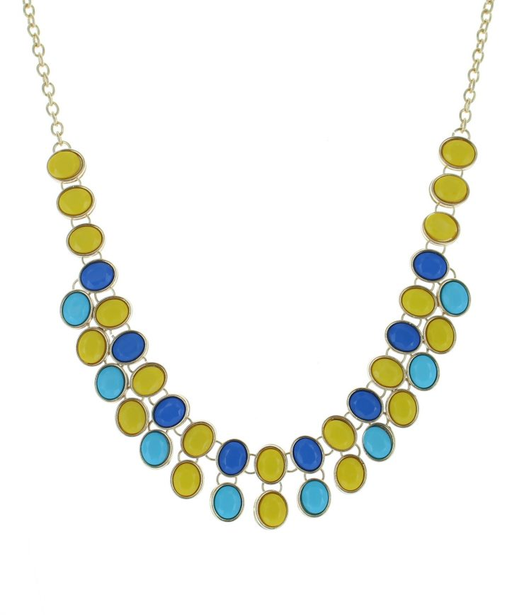 A photo of the Reversible Bib Necklace. product