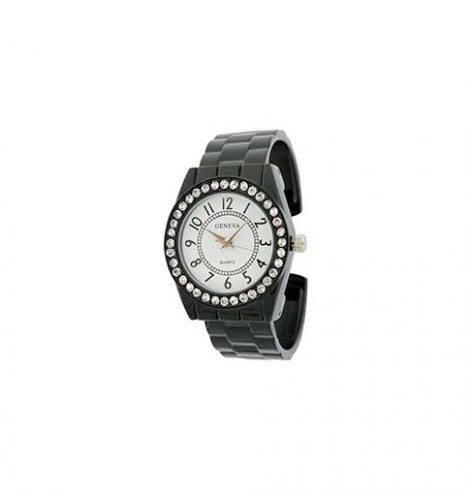 A photo of the Crystal Rim Cuff Watch product