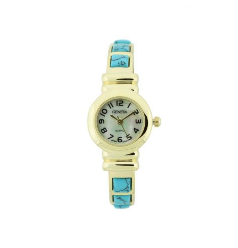A photo of the Small Gold Turquoise Watch product