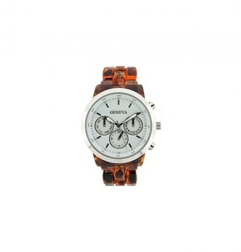 A photo of the Big Face Tortoise Shell Watch product