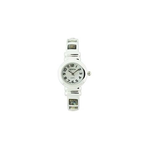 A photo of the Small Silver Abaloni Cuff Watch product