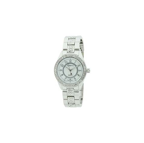 A photo of the Silver Link Rhinestone Watch product