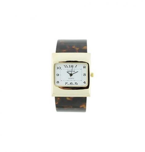 A photo of the Square Face Toirtoise Shell Watch product