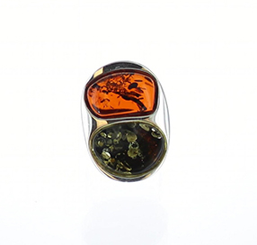933 Sterling Silver Amber Ring