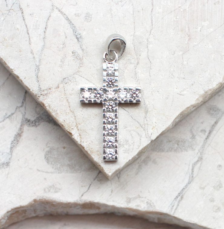 A photo of the CZ Sterling Silver Cross Pendant product