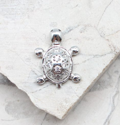 A photo of the The Little Turtle Pendant product