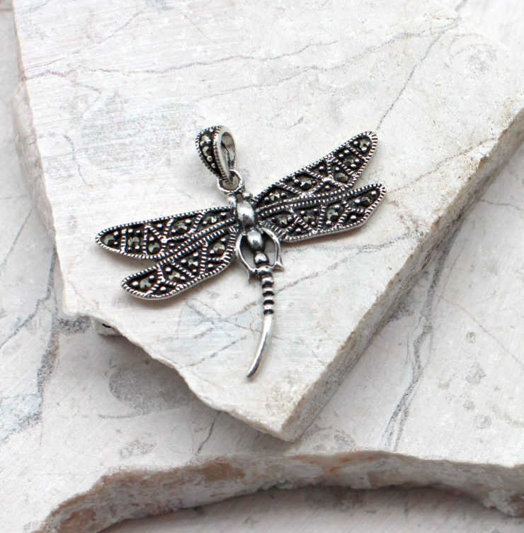 A photo of the The Marcasite Dragonfly Pendant product