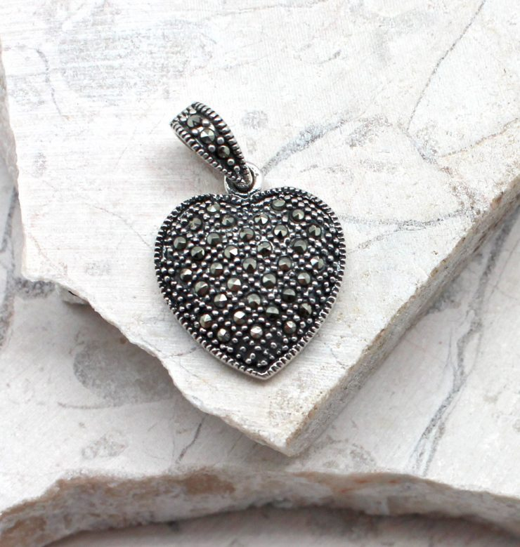 A photo of the The Marcasite Heart Pendant product