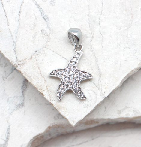 A photo of the The Tiny Rhinestone Sea Star Pendant product