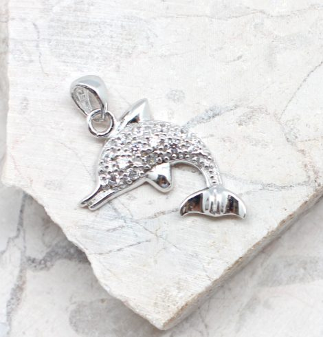 A photo of the The Splashing Dolphin Pendant product