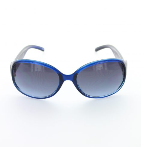 Blue Heavy Flare Fashion Sunglasses
