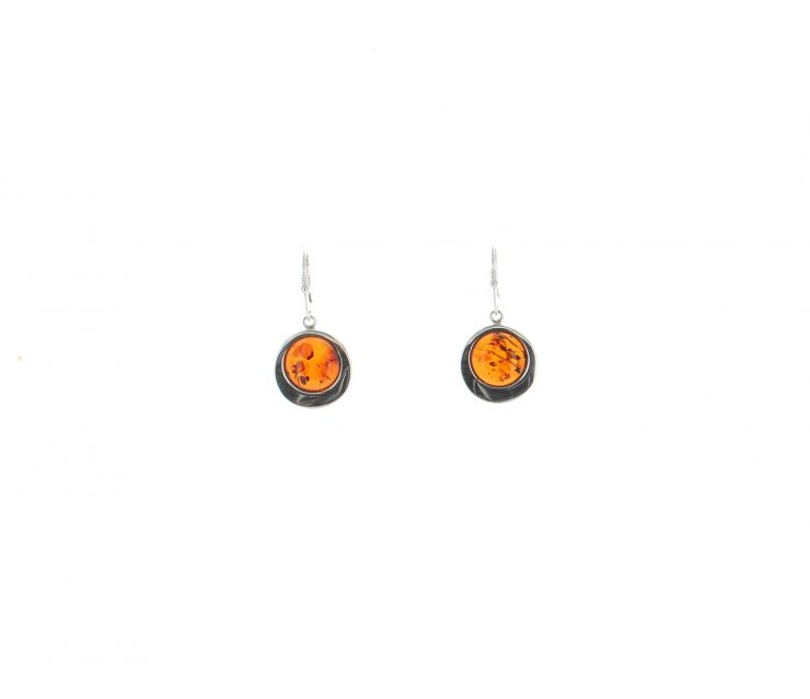 A photo of the 925 Sterling Silver Amber Earrings product
