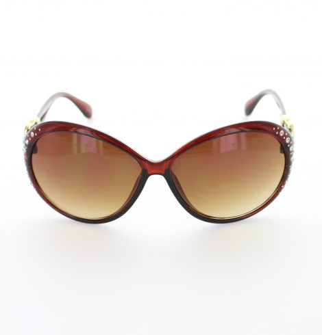 Wine Red Heart Fashion Sunglasses
