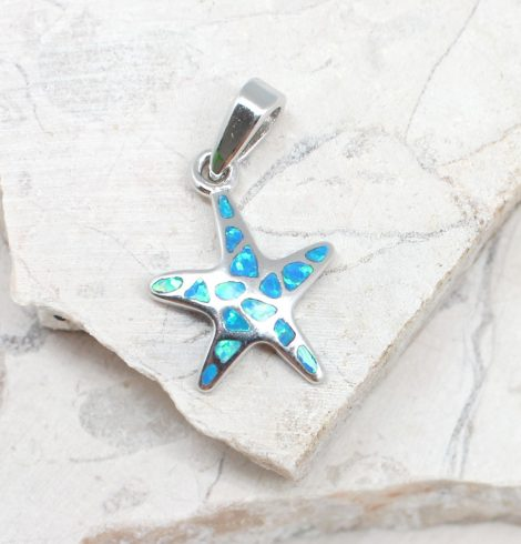 A photo of the The Small Opal Starfish Pendant product