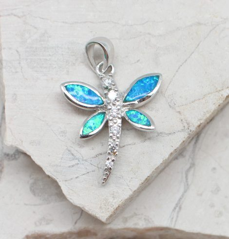 A photo of the The Opal Dragonfly Pendant product