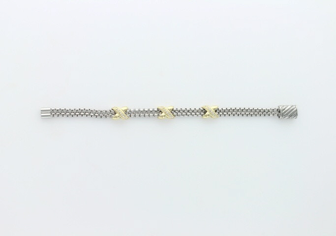 A photo of the Two Tone Magnetic Bracelet product
