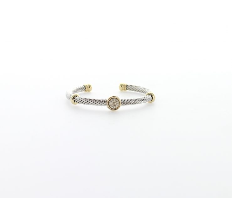A photo of the Two Tone Rhinestone Bracelet product