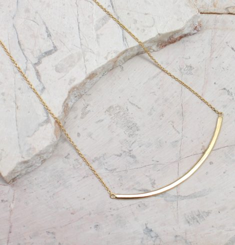 A photo of the Curved Bar Necklace product