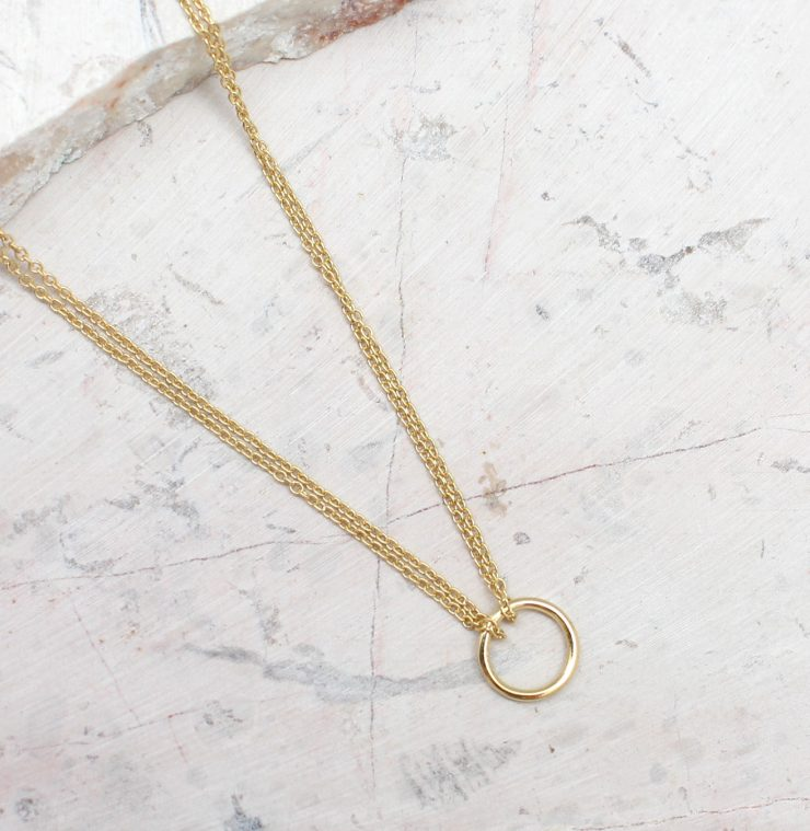 A photo of the Duo Chain Necklace product
