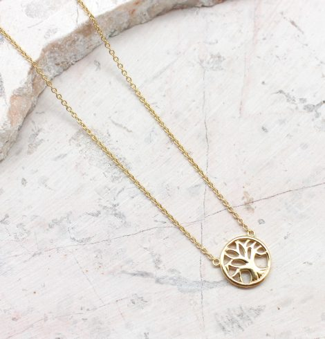 A photo of the Little Tree Of Life Necklace product