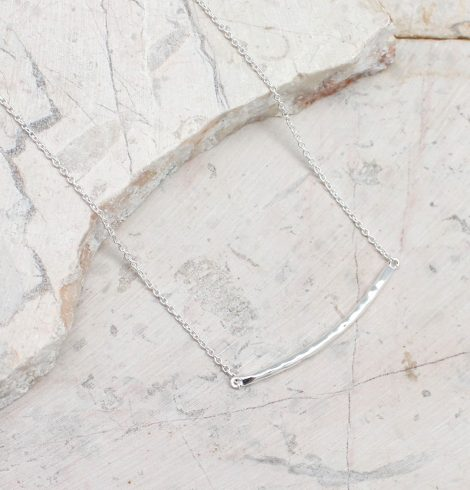 A photo of the Sterling Silver Thin Line Necklace product