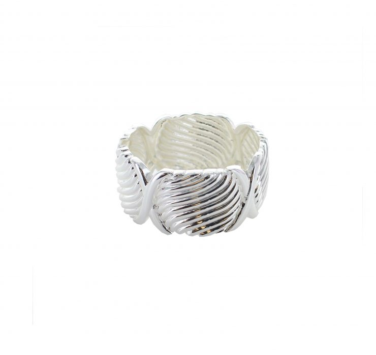 A photo of the Plain Silver Bangle product