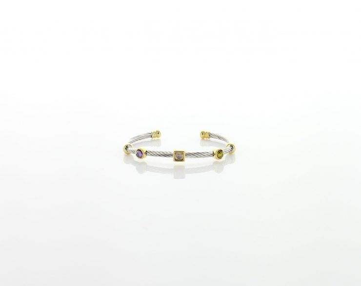 A photo of the Multi Color Two Tone Bracelet product