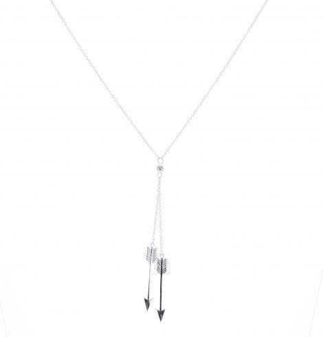 Sterling Silver Suspending Arrow Necklace