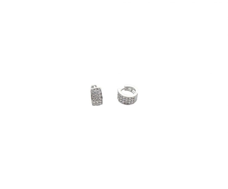A photo of the Sterling Silver CZ Earrings product