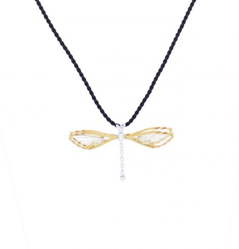 silver_&_gold_dragonfly_pendant
