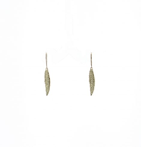 A photo of the Small Feather Earrings product