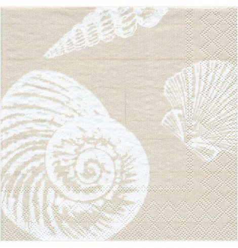 A photo of the Shells Cocktail Napkins In Sand product