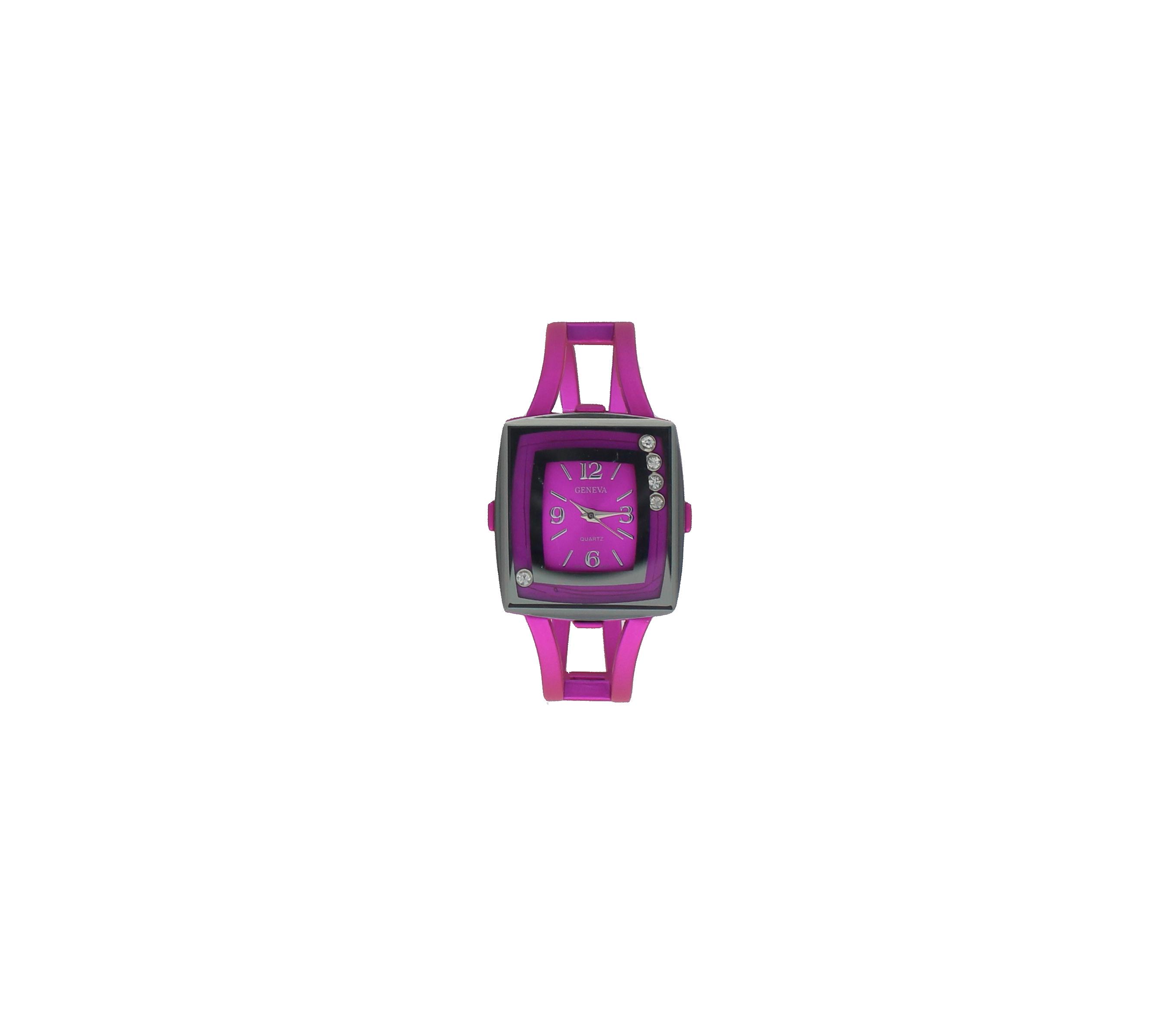 Square Face Metallic Watch