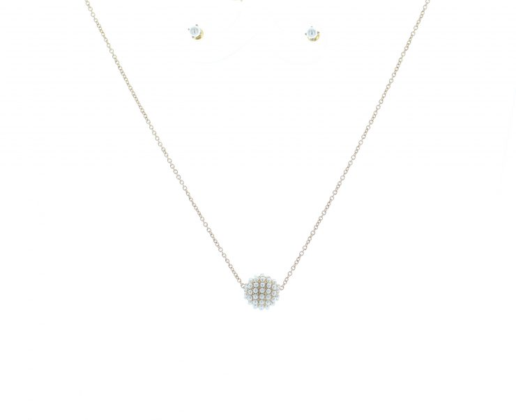 A photo of the Studded Pearl Necklace product