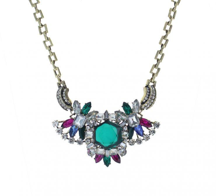 A photo of the Colorful Beads Necklace product