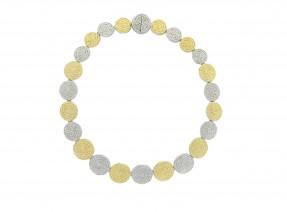 Two Tone Coin Collar