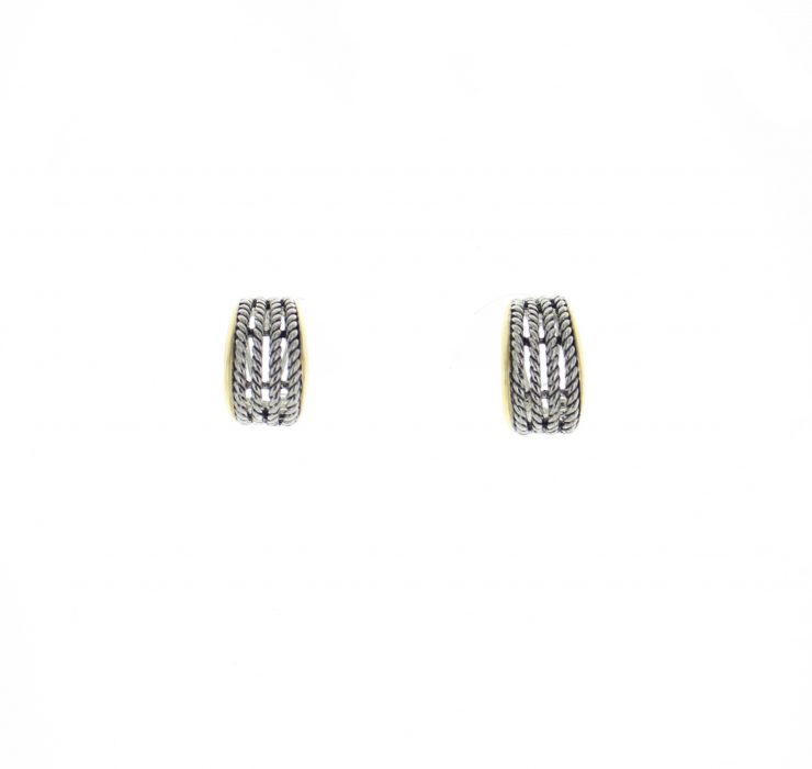 A photo of the Round Bars Earrings product