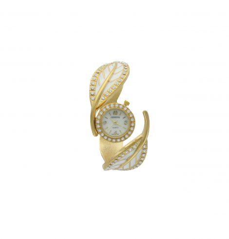 White & Gold Leaf Watch