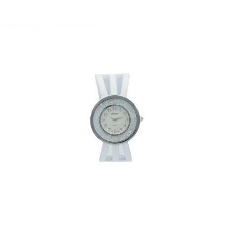 White Round Crystal Watch
