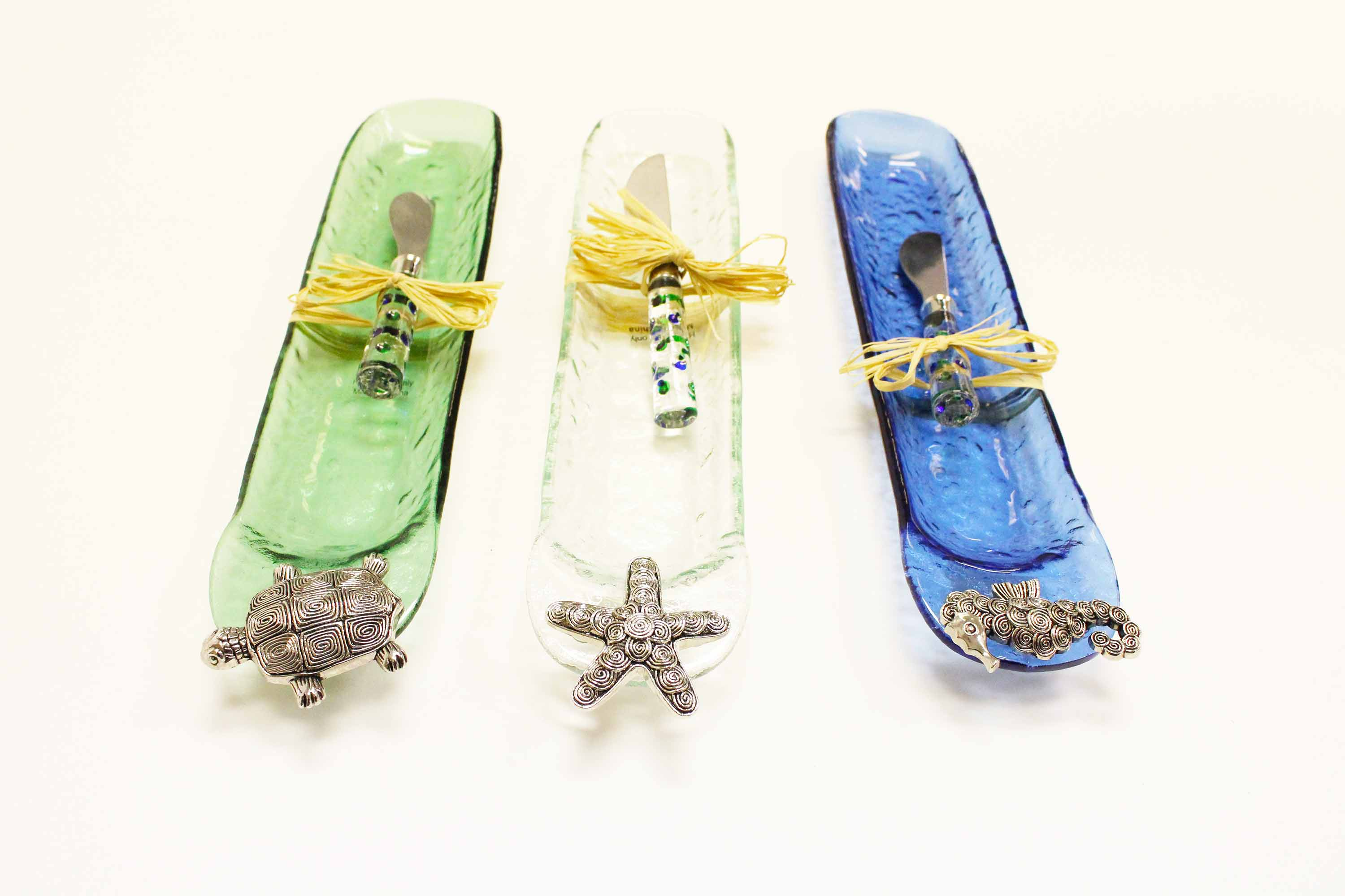 Metal Sea Life Cracker Dish With Knife Best Of