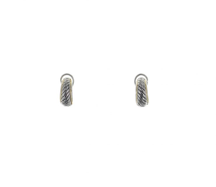 A photo of the Diagonal Lines Earrings product