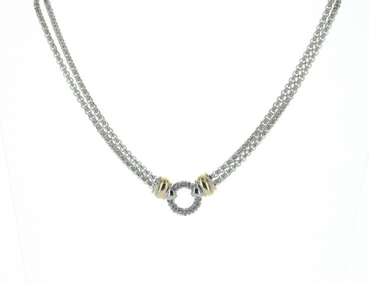 A photo of the Double Chain Loop Necklace product