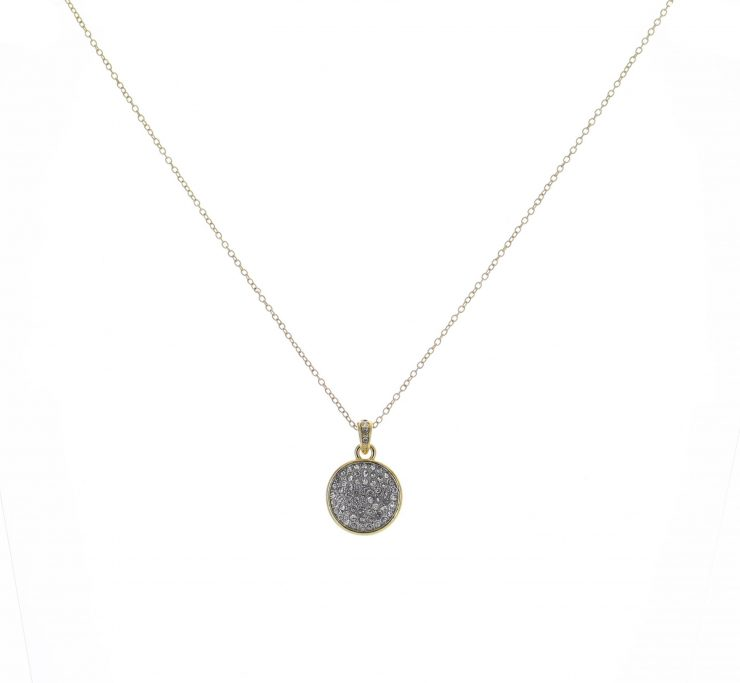 A photo of the Small Gold Rhinestone Coin  product