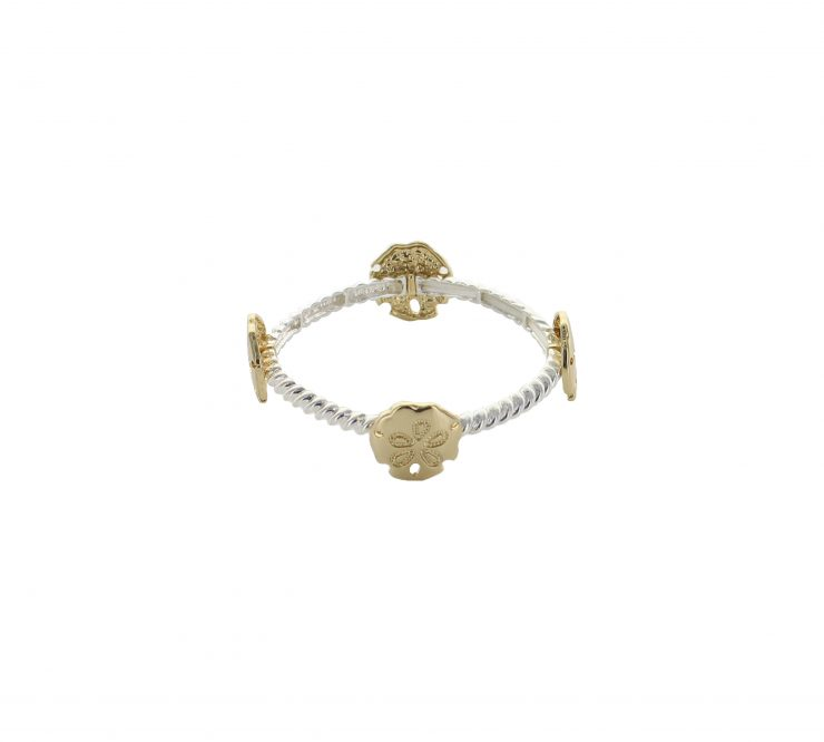 A photo of the Thin Sand Dollar Stretch Bracelet product