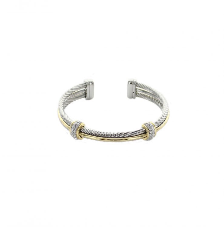 A photo of the Multi Wire Two Tone Bracelet product