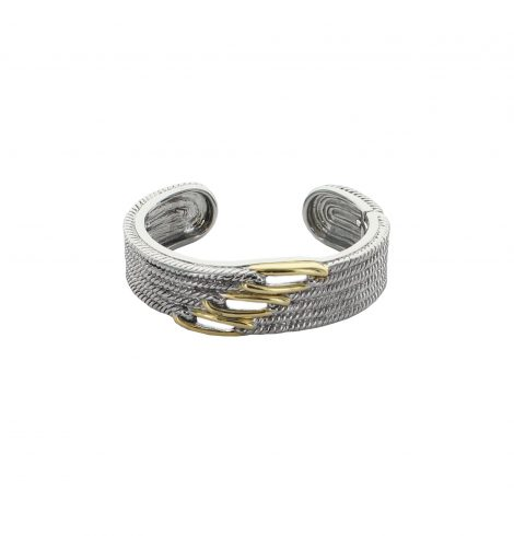 A photo of the Two Tone Multi Cable Plain Cuff product