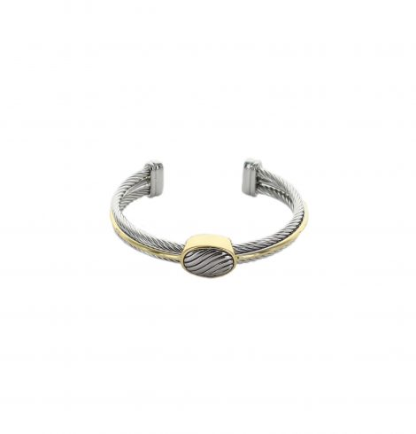 A photo of the Two Tone Oval Studd Cuff  product