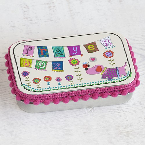 A photo of the Pretty in Pink Dog Prayer Box product