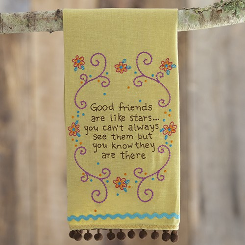 """A photo of the """"Good Friends"""" Linen Hand Towel product"""