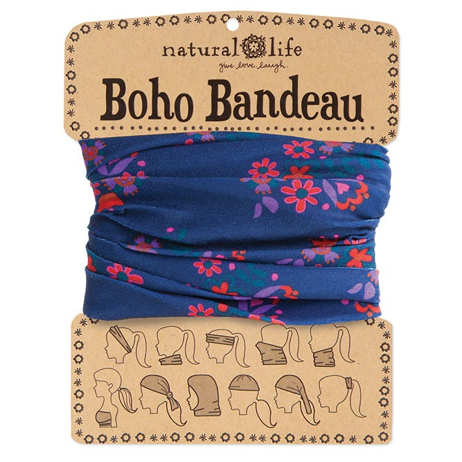 A photo of the Navy, Red & Purple Boho Bandeau product